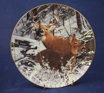 """Danbury Mint """"SNOWBOUND"""" Plate Pride Of The Wilderness Collection Limited Ed"""