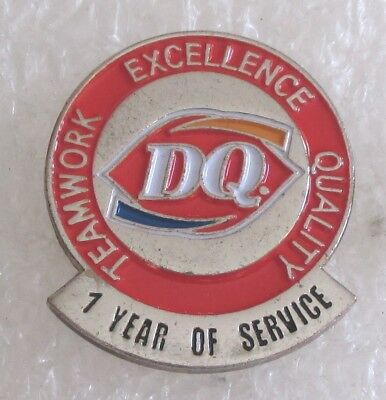 Vintage Dairy Queen DQ Restaurant 1 Year of Service Award Pin