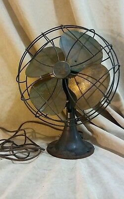 Antique Vintage 1920s Emerson 6250-K Electric Oscillating Fan Restored Very Nice