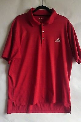Adidas Golf Mens Polo Shirt Size XL Red Extra Large Sports Casual (A)