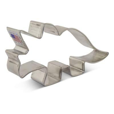 Triceratops Dinosaur Cookie Cutter, Ann Clark, Tin Plated Steel, 5 Inches