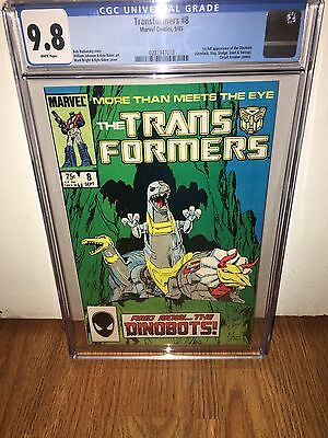 Transformers #8 Cgc 9.8 White Pages 1St Appearance Dinobots Grimlok Slag Sludge