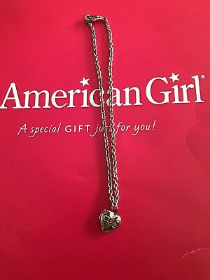 American Girl Molly Meet Heart Necklace Locket Mollys Mollie Molly's
