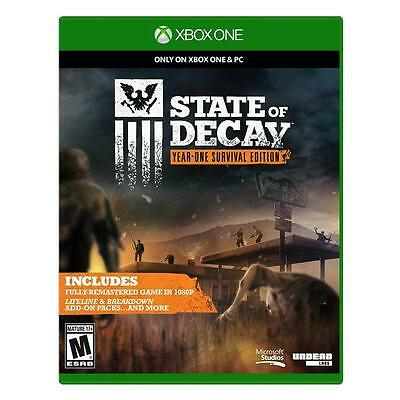 State of Decay -- Year-One Survival Edition (Microsoft Xbox One, 2015) NEW