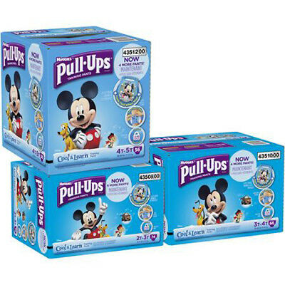 Huggies Pull-Ups Cool & Learn Baby Diapers ALL SIZES CHEAP!!!