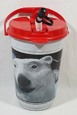 "1993 Coca Cola Large Plastic Drinking Container Coke Polar Bear 8.75"" X 5"""