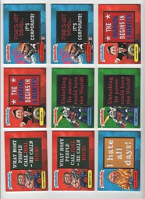 2018 Garbage Pail Kids We hate the 80's patch set 1-10a/b 20 total