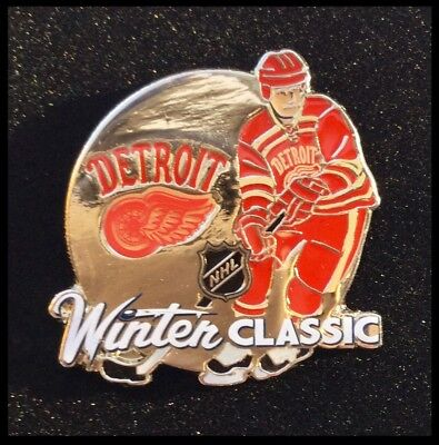 Detroit Red Wings NHL 2014 Winter Classic Ice Hockey Player Pin Badge