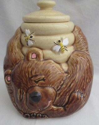 McCoy Vintage Sleeping Honey Bear Cookie Jar Collectible USA #143