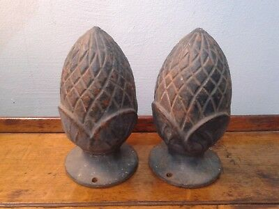 Antique pineapple shaped gate finials