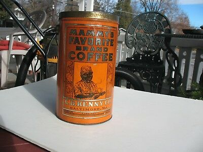 Old Coffee Tin, Mammy's Favorite Brand, C. D. Kenny Co., MD, 4lb