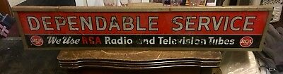 Vintage RCA Radio & TV Advertising Sign.    AS. IS
