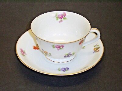 Vintage Noritake China Occupied Japan Floral Footed Cup And Saucer Exc