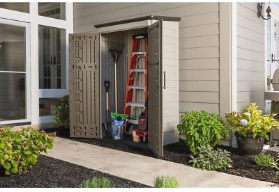 Rubbermaid Big Max Storage Shed 2 ft. 3 in. x 4 ft. 3 in. Large Vertical Resin