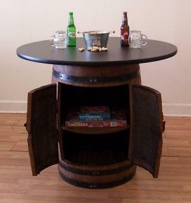 """Whiskey Barrel Double Door Cabinet-Table c/42"""" Laminate Table Top-FREE SHIPPING"""