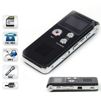16GB USB Digital Sound Voice Recorder Rechargeable Audio Record Pen Dictaphone