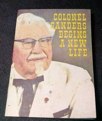 "1968 Rare Vintage Colonel Sanders ""Begins A New Life"" Revivaltime Booklet Tract"