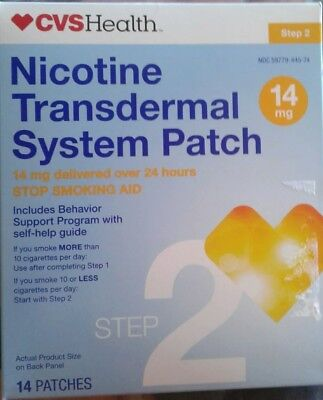 CVS Health Nicotine Transdermal Patches 14 mg 14 Patches Exp 02/19 NEVER OPENED