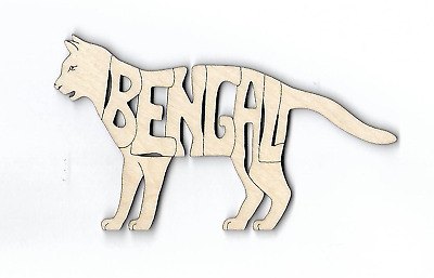 Bengal Cat laser cut and engraved Magnet or Ornament (Hanger)