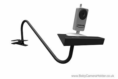 Baby Video Monitor Camera Holder - Flexible Clamp BLACK Stand Portable IN STOCK