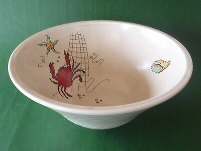 Crown Devon Fieldings Oceania Serving Bowl - Nautical - Crab Starfish Shell