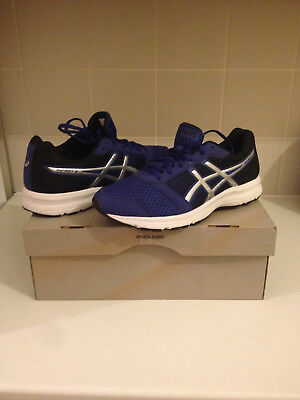 Asics Gel Patriot 8 Mens Running Shoes Fitness Gym - Blue/Silver New