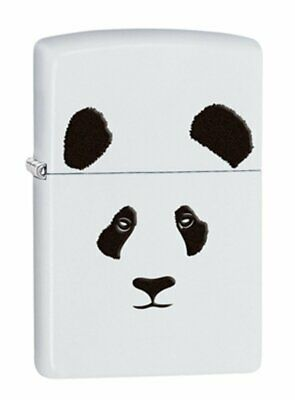 Zippo Giant Panda Lighter, White Matte Finish, Windproof #28860