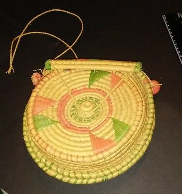 Native American Hand Woven Pouch Bag neat