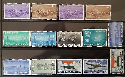 INDIA Indian 1949-1954 Mint sets MLH Mt. Everest Railway Telegraph etc !!