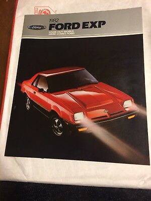 Original 1982 Ford EXP Brochure
