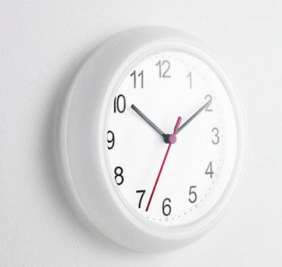 Ikea White Wall Clock 163 0 99 Picclick Uk