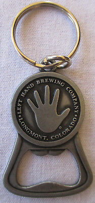 Left Hand Brewing Company Bottle Opener Key Ring