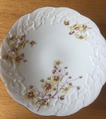D & C Limoges China Plate Stand Yellow Flower Pattern