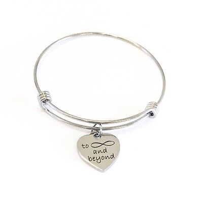 Love Jewelry Gifts, To Infinity And Beyond Bracelet, Expanding Bangle Bracelet