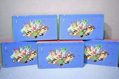 Looney Tunes Christmas gift boxes 1997 lot of 5 E