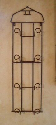 Brown Barn Plate Display Rack Holder Hanger  Wall Deoor 4 Tier Vertical