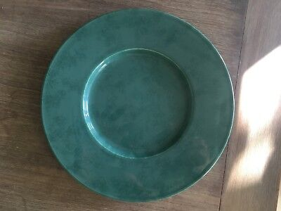Christofle Porcelain China Jade Green Plate-Vert Marbre Special Lave-Vaisselle