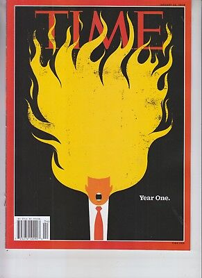 Donald Trump Time Magazine January 22 2018 No Label Year One