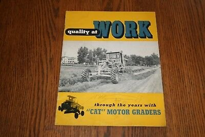 Caterpillar Motor Graders Quality at Work Advertising Sales Brochure
