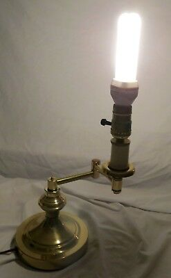 Brass Adjustable Swing Arm Student Desk Office Lamp, Works Fine Vintage