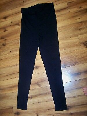 Gap Maternity Leggings Black Small Full Panel High Waisted