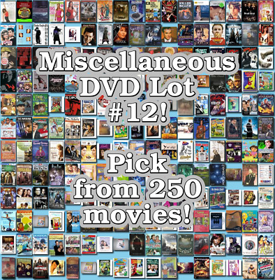 Miscellaneous DVD Lot #12: DISC ONLY - Pick Items to Bundle and Save!