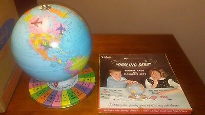 Vintage Replogle Whirling Derby Global Race Game 100% Complete Never Played
