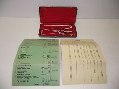 Vintage Schioetz Tonometer Calibration Scale with Case Made In Germany See NR