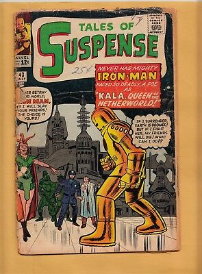 TALES OF SUSPENSE #43 Marvel Comics 1963 Iron Man 1st App Kala App
