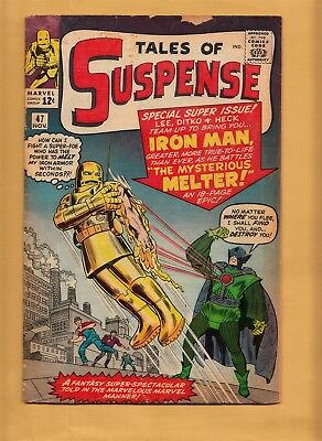 TALES OF SUSPENSE #47 Marvel Comics 1963 Iron Man 1st Melter Silver