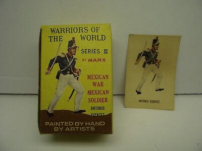 Marx Warriors of the World ( Antonio Fuentes ) BOX & ID CARD ONLY No Figure See