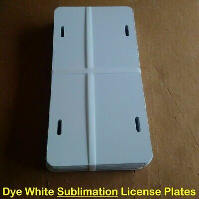 "25pcs- 6""x12"" .026 Dye White Sublimation Aluminum License Plate/ Car Tag Blanks"