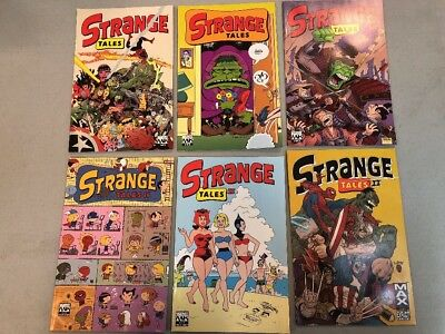 Strange Tales 1-3 & Series II 1-3 Marvel Knights Parental Advisory Complete Set