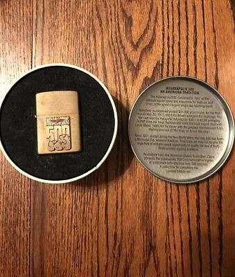 Brass Zippo 1994 RARE Collectable Indianapolis Indy 500 Wind proof Lighter